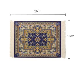 Wholesale Bohemia Gaming Vintage Mouse Pad Persian Style Woven Rug Carpet Mouse Mat Office Tool Gift Mat Pad For Computer