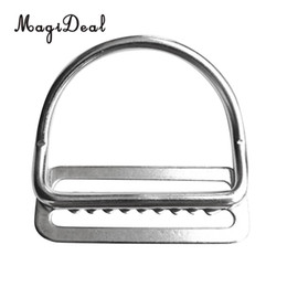 heavy belt clips 2019 - MagiDeal Heavy Duty Scuba Dive 316 Stainless Steel Keeper Clip & Bent D Ring for 5cm Weight Belt Surfing Swimming Climbi