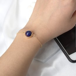 $enCountryForm.capitalKeyWord Australia - Maxi concise style design retro bracelet lucky beads bracelet natural stone marble bead minimalist jewelry