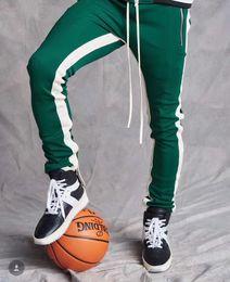 $enCountryForm.capitalKeyWord Australia - fog Zipper stitching white strip school pants personality hip hop pants men and women sports casual trousers 520