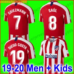5ed69cd4529 Thailand Atletico Madrid soccer jersey 2019 2020 GRIEZMANN KOKE GABI SAUL  DIEGO COSTA GODIN 19 20 Adult men kids football shirt kit uniforms