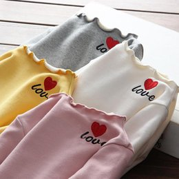 $enCountryForm.capitalKeyWord Australia - 2019 New Winter Item Girl Cute Print Heart T-Shirt Warm And Thick Top baby boy boys toddler kids zipper infant Anna leggings jackets
