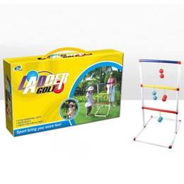 old children toy Australia - Kids Children Indoor Outdoor Ladder Toss Game Toys Kit with 12 Over 3 Years Old Pcs Multi Golf Ball Toys