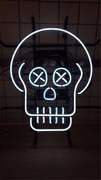 $enCountryForm.capitalKeyWord Australia - New Star Neon Sign Factory 17X14 Inches Real Glass Neon Sign Light for Beer Bar Pub Garage Room SKULL.