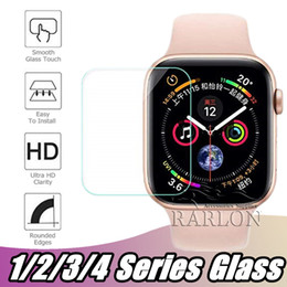 Discount iwatch screen - For NEW Apple Watch Iwatch Series 4 tempered glass 40 mm 44 mm Anti-Bubble Screen Protector Flexible Film For Iwatch 1 2