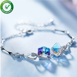 cb6315631a2f Diseñador de lujo Joyería de Las Mujeres Pulseras Amistad Amor Charm  Pandora Estilo Pulsera Elegante Brazalete Swarovski Cristal Accesorios de  Moda