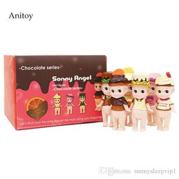 angels figures Australia - 6pcs set Sonny Angel Chocolate Series Mini PVC Figure Collectible Toy 8cm KT4159