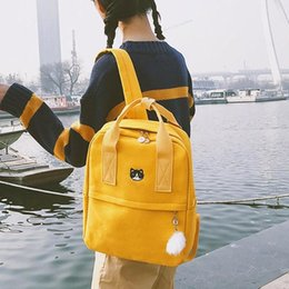 $enCountryForm.capitalKeyWord NZ - Preppy Women Backpack For School Teenagers Girl Vintage Stylish School Bag Ladies Canvas Fabric Backpack Female Bookbag Mochila MX190819