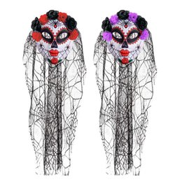 Halloween Party Latex Mask Australia - Halloween Mask Horro Clown Masquerade Party Dress Up Men&Women Skeleton Scary Mask With Colorful Head Veil Latex Masks Helloween