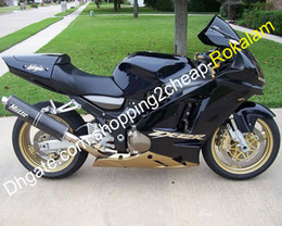 zx12r ninja fairing kit NZ - Golden Black Fairing For Kawasaki Ninja ZX-12R 2002-2004 ZX12R 02 03 04 ZX 12R ABS Custom Fairings Kit (Injection molding)