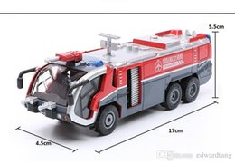 model cannons wholesale Australia - KDW Diecast Alloy Car Model Toy, Airport Water Cannons Fire Truck with Sound& Lights Pull-back, Ornament, Xmas Kid Birthday Gift,Collect 2-2