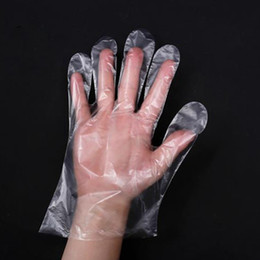 100pcs lot Disposable Gloves for Kitchen Cooking Cleaning BBQ Fruit Vegetable One-off Gloves Plastic Daily Use Protective HHA1298 on Sale