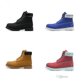 mens casual nubuck shoes NZ - 2019 botas Men Designer Sports Shoes Sneakers Casual Mens Womens Trainers Wheat Black Red Luxury boots
