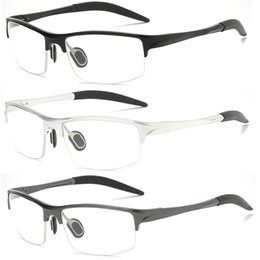 f3f9c503d4 Luxury Aluminum Magnesium Eyeglass Frames Mens Womens Spring Hinge Sport Optical  Eye Glasses Frame Clear Lens Eyewear Frame