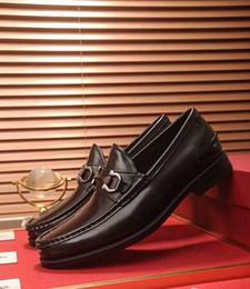 $enCountryForm.capitalKeyWord NZ - Brand Design men cow leather dress shoe Slip-on Horsebit Loafers formal Suit Business Office Shoe Low Heel Wedding Oxfords,38-44