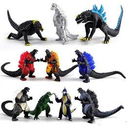 10pcs / set Godzilla Figuras de acción Muñecas juguetes 2019 Nuevos niños Dibujos animados de la película Godzilla: El rey de los monstruos dinosaurio monstruo Figura Juguete en venta