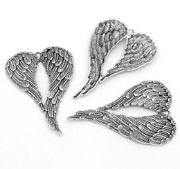 $enCountryForm.capitalKeyWord Australia - Antiqued Silver Angel Wings Dangle Charms Pendants For Jewelry Making Findings Bracelet Handmade Accessories DIY Fashion Gifts Party HOT
