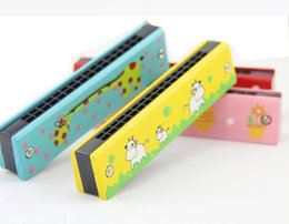 $enCountryForm.capitalKeyWord Australia - Cartoon Wooden Harmonica Kids Musical Instrument Educational Toy Colorful Children Attractive Toys Band Kit Baby Birthday Gift for baby
