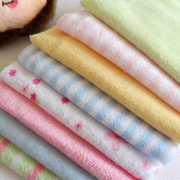 $enCountryForm.capitalKeyWord Australia - 8pcs lot Cute Baby Small Square Soft Towel Handkerchief Infant Kid Feeding Bathing Face Washing Towel Newborn Washing #20