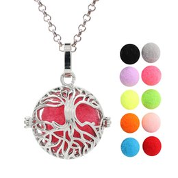 $enCountryForm.capitalKeyWord Australia - Dull Silver Tree of Life Essential Oil Diffuser Ball Locket Pendant Perfume Cage Angel Bola Mexican Chime Ball for Women Jewelry Making