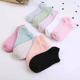 wholesale women fashionable tops NZ - High Quality Fashionable Women's Socks Shallow Mouth Pure Cotton Women's Ship Socks Women's Socks Low Top Non Slip Solid Color Ventilation