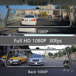 Wholesale OLESED T95S 10 inch IPS Screen Car DVR Mirror Dash Camera Dash Cam Dual Lens Car Camera Full HD Drive Recorder Stream RearView Mirror