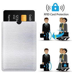 Smart rfid lockS online shopping - Pure Sliver Rfid Blocking Reader Lock Credit Card Holder ID Bank Card Case Rfid Protection Metal Credit Card Aluminium Protector DHL