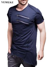 $enCountryForm.capitalKeyWord Australia - wholesale New Men Chest zipper design T Shirt Muscle Fitness Work Out Streetwear Trends Sporting T Shirt Men Bodybuilding Tees