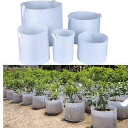 Root bags online shopping - Non Woven Tree Fabric Pots Grow Bag Root Container Plant Pouch With hand planting flowers non woven bags Grows Flowerpot Plant bags KKA7014