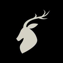 Cartoon Deer Head Australia - Deer Head Carving Car Sticker Vinyl Car Packaging Accessories Product Decoration Decal Animal Pattern