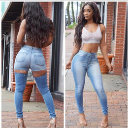 Scratch Resistant Coating Australia - Wholesale Women jeans High Strength Water washed skinny jeans Ladies fashion New Style Leisure Bottom Jeans 208#