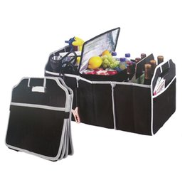 car totes UK - Reusable Large Grocery Shopping Bag Portable Foldable Non-woven Fabric Tote Bag Car Multi-Pocket Organizer Truck Container Bags #123959