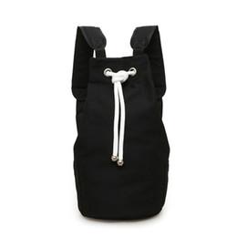$enCountryForm.capitalKeyWord UK - Men Backpack Hike Casual Canvas Camping Travel Large Capacity Solid Gym Fashion Outdoor Bag Storage Drawstring Daypack