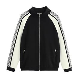 Zip sweatshirt jacket online shopping - Italy Designers Black Technical Jersey Printed Nylon Mens Hoodies ZIP UP Jacket Coat Men Women Sweatshirts Man Clothing BWK351