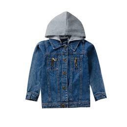 Jacket design girl online shopping - 2019 Autumn Baby Kids Girl Clothes Hooded Design Denim Jacket Coat Outdoor Long Sleeve Outerwear Coat Winter