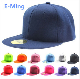 efe1d97eb85920 Designer Plain Hip Hop Hats Adjustable Snapback Custom Embroidery Printing  Logo Blank Flat Brimmed Baseball Caps For Adults Mens Womens Sale
