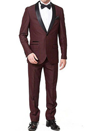 cheap blue tuxedos UK - New Cheap And Fine Shawl Lapel Groomsmen One Button Groom Tuxedos Men Suits Wedding Prom Dinner Best Man Blazer(Jacket+Pants+Tie) 225