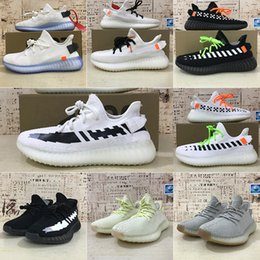 Nueva Kanye Xiwei V2 diseñador zapatos blancos cebra sésamo electrostáticos zapatos casuales ropa de mujer de los hombres