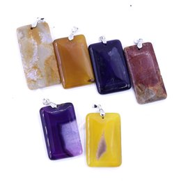 $enCountryForm.capitalKeyWord Australia - Gemstone rectangle Stone Agate Pendant LGMAG-023