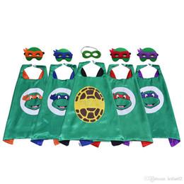 $enCountryForm.capitalKeyWord NZ - Animal cartoon Superhero Cape with Mask for Kids Top Quality Movie Cartoon Costumes Party Favors Halloween Christmas Birthday Gifts