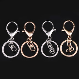 hook keychain clip Australia - 5Pcs lot Gold Silver Swivel Lobster Clasp Clips Key Hook Keychain Split Key Ring Findings Clasps For Keychains Making