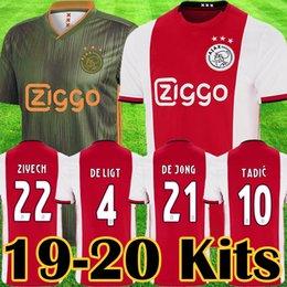 d59fd312a12 2019 2020 Ajax FC champions league Soccer Jerseys Ajax away Shirts 2019  TADIC ZIYECH DE JONG football kit Kids Youth football Uniform tops