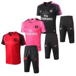 e2edd1cdade top quality 2018 PSG soccer training suit long sleeve MBAPPE CAVANI Jerseys  17 18 19 maillot de foot paris football jacket tracksuit set