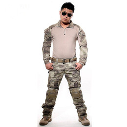 $enCountryForm.capitalKeyWord Australia - Tactical Suit Army Uniform Combat Shirt+Pants With Elbow Knee Pads Camo Set Hunting Clothes Paintball Clothing