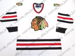e75b5da9363 Cheap custom TONY AMONTE CHICAGO BLACKHAWKS VINTAGE CCM WHITE HOCKEY JERSEY  stitch add any number any name Mens Hockey Jersey XS-5XL