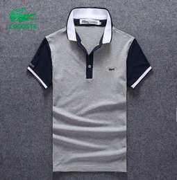 pullover polo UK - 19SS high quality crocodile Polo Shirt Men Solid cotton Shorts Polo Summer Casual polo homme T-shirts Mens polos Shirts poloshirt 038