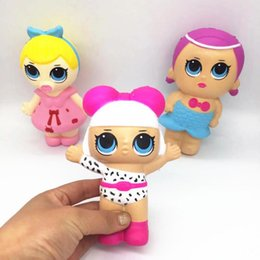 Wholesale 14 CM squishy LoL Dolls with feeding bottle American PVC Kawaii Children Toys Anime Action Figures Realistic Reborn Dolls for kids toys