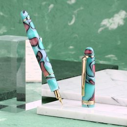 $enCountryForm.capitalKeyWord Australia - Moonman S3 Acrylic Resin Fountain Pen Iridium Extra Fine   Fine Nib 0.38   0.5mm Writing Ink Pens Gold Trim with Gift Box Set