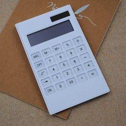 Mini digital power supply online shopping - Portable Creative Slim mini digital Calculator Solar Energy Crystal Keyboard Dual Power Supply