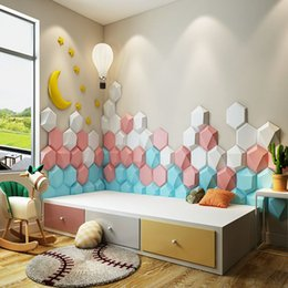 Pvc Puffy Stickers Australia - PVC Vinyl Wallpapers Self Adhesive Wall Covering Panels Minimalist Wallpaper Geometric 3d Wallpaper stickers Photo Panel